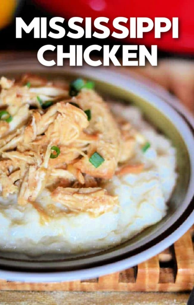Make super tender and juicy chicken in your crock pot or instant pot with this classic Mississippi chicken recipe